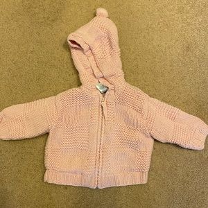 Baby Girl Zip Up Sweater